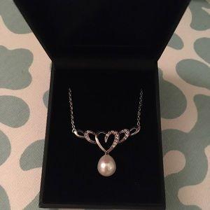 Gemstv pearl topaz necklace